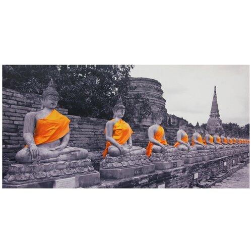 Oriental Furniture Golden Buddhas Photographic Print on Canvas