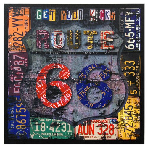 Oriental Furniture Route 66 Framed Textual Art