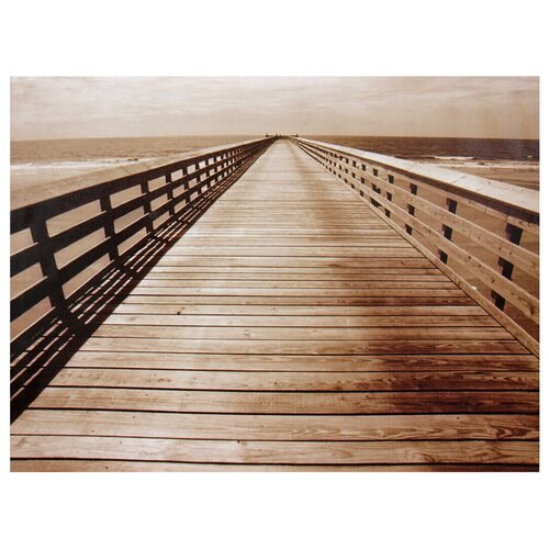 Oriental Furniture Ocean Walkway Photographic Print on Canvas