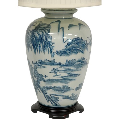 Oriental Furniture Chinese Landscape Oriental Table Lamp