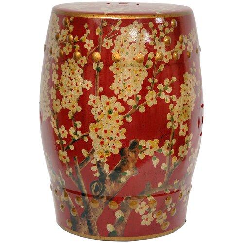 Sakura Blossom Oriental Garden Stool