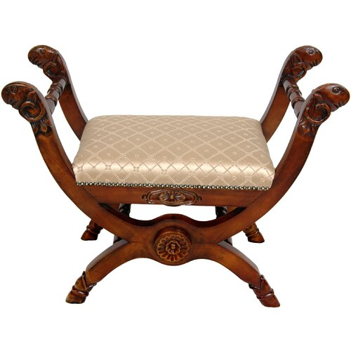 Oriental Furniture Queen Mary Antechamber Bench