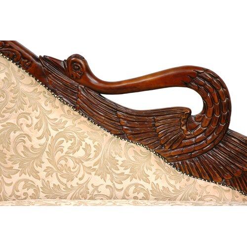Oriental Furniture Queen Elizabeth Swan Cotton Chaise Lounge