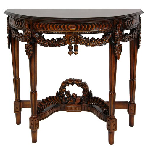 Oriental Furniture Queen Anne Console Table