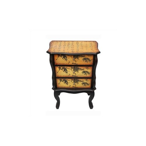 Oriental Furniture Bamboo Design 3 Drawer Chest