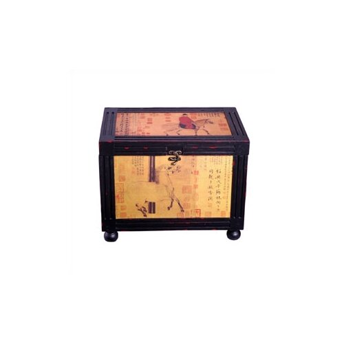 Oriental Furniture Raging Stallions Oriental Storage Box