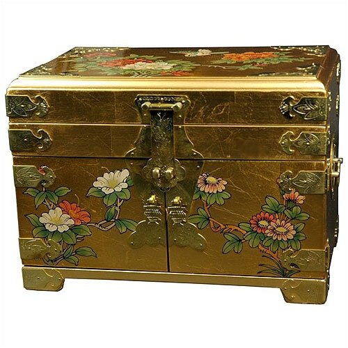 Chinese Daisy Mirror Jewelry Box