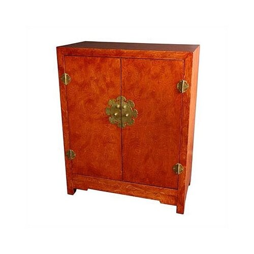 Chinese burl wood cabinet wayfair for Burl wood kitchen cabinets