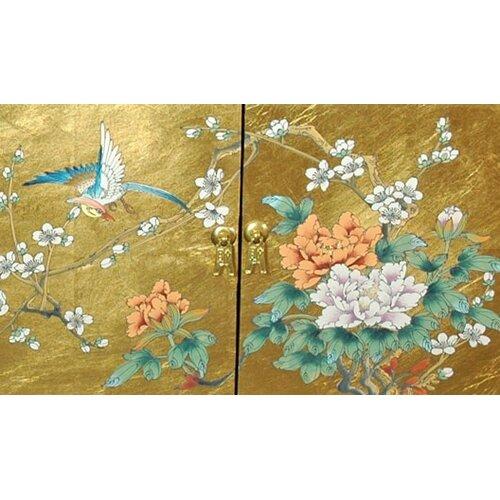 Oriental Furniture Chinese Leaf Step Tansu Cabinet