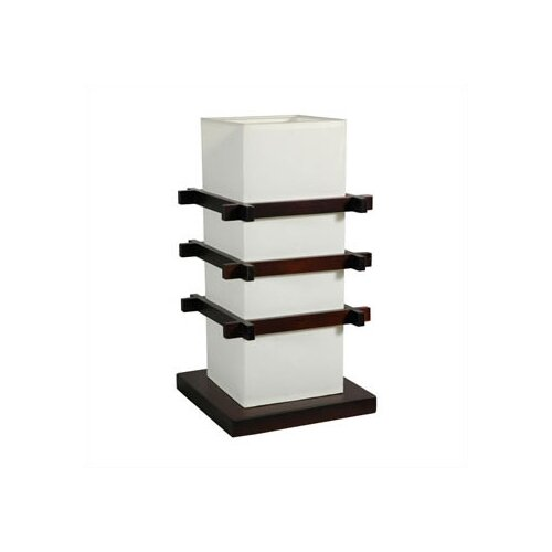 """Oriental Furniture Ido 17"""" H Table Lamp with Square Shade"""