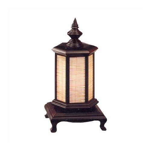 "Oriental Furniture Japanese Oriental Puggi 18"" H Table Lamp with Drum Shade"
