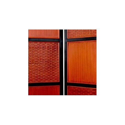 "Oriental Furniture 72"" x 54"" Tainan 3 Panel Room Divider"