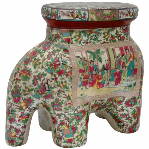 Oriental Furniture Elephant Stool