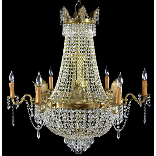 Oriental Furniture King's Banquet Crystal Chandelier