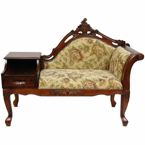 Oriental Furniture Queen Victoria Fabric Chaise Lounge