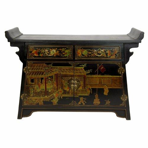 Oriental Furniture Altar 2 Drawer Cabinet
