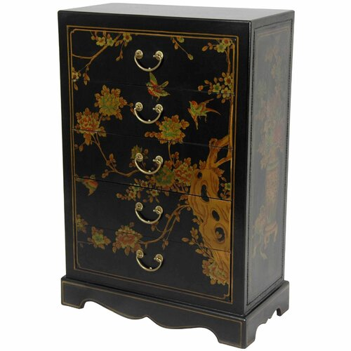 Oriental Furniture 5 Drawer Chest