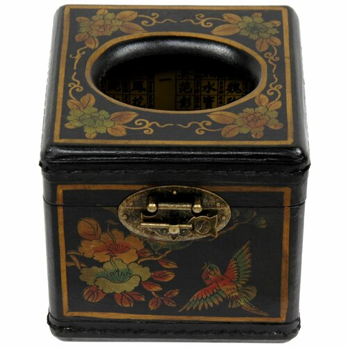 Oriental Furniture Cube Tissue Box