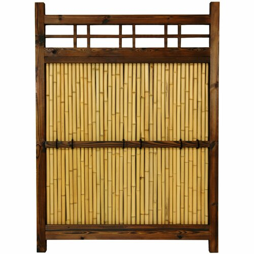 Oriental Furniture Japanese 4' x 3' Kumo Fence