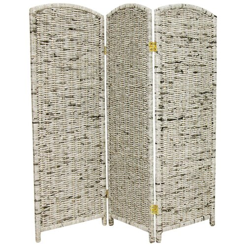"Oriental Furniture 47.75"" x 47.25"" 3 Panel Room Divider"