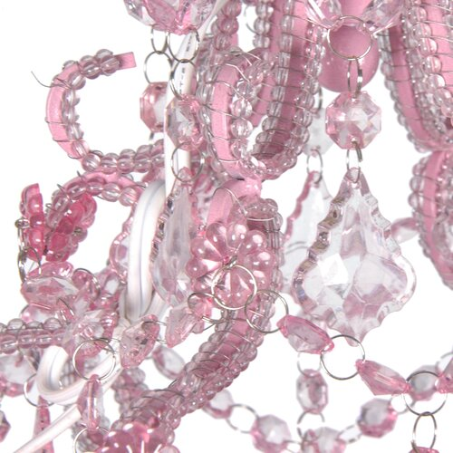 Oriental Furniture Rose Jewels Chandelier