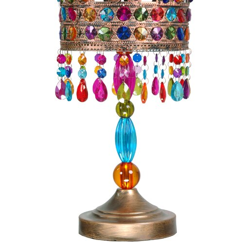 Oriental Furniture Jewel Flower Table Lamp