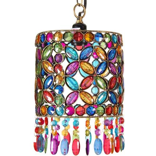 Four Petal Beaded Ceiling Lantern