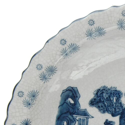 Oriental Furniture Ladies Porcelain Plate