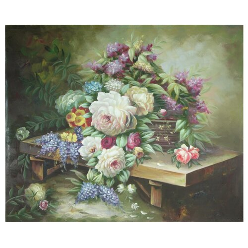 Hand Painted Table Floral Bouquet Original Painting on Canvas