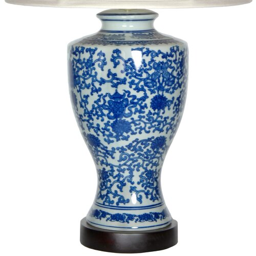 "Oriental Furniture Victorian Design 28"" H Table Lamp with Bell Shade"