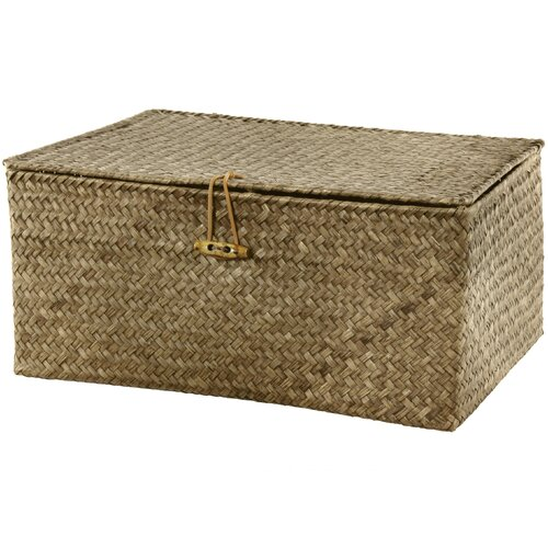 Oriental Furniture Hand Woven Covered Storage Bin
