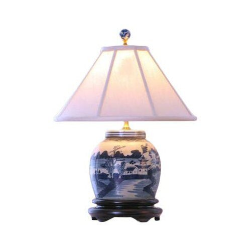 "Oriental Furniture Jar 23"" H Table Lamp"