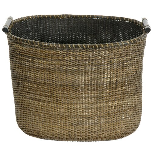 Oriental Furniture Rattan Oval Storage Bin