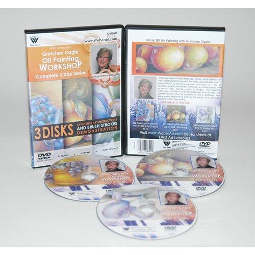 Weber Art CAGLE DVD 3 DISC SET VOL 1&2, STILL LIFE & VOL 3 FLORAL OIL PAINTING 3 HOUR