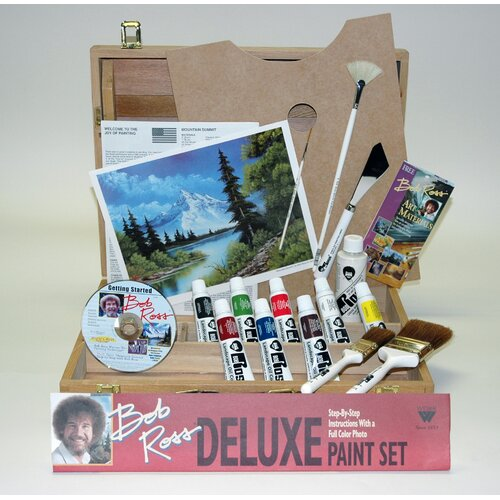 Weber Art BOB ROSS DELUXE WOOD BOX SET     WITH 1 HOUR DVD