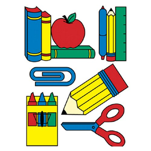 Eureka! Window Cling School Tools 12 X 17