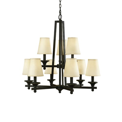Woodbridge Lighting Baxter 9 Light Chandelier