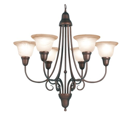 Woodbridge Lighting Hudson Glen 6 Light Chandelier
