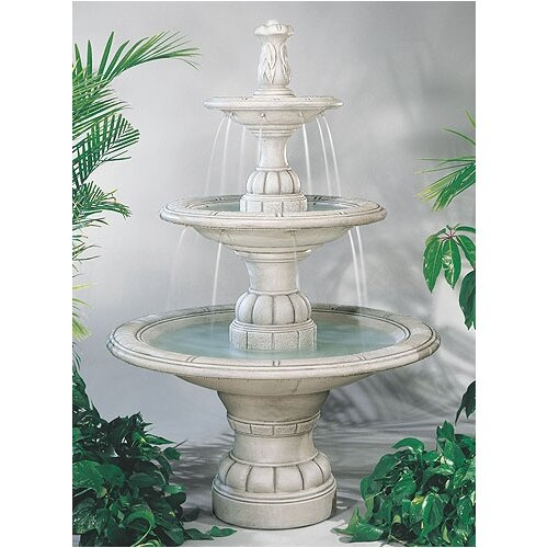 Tiered Cast Stone Large Contemporary Waterfall Fountain