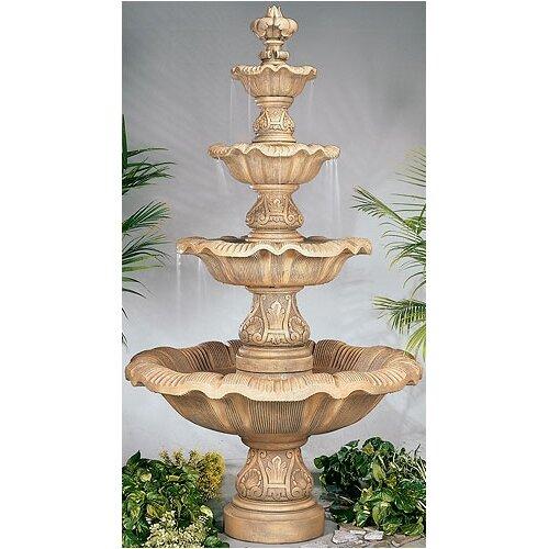 Henri Studio Four-Tier Cast Stone Renaissance Waterfall Fountain