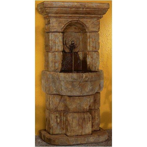 Henri Studio Wall Cast Stone Linari Rosette Fountain