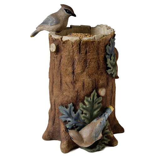 Evergreen Enterprises, Inc Tree Trunk Statuary Decorative Bird Feeder