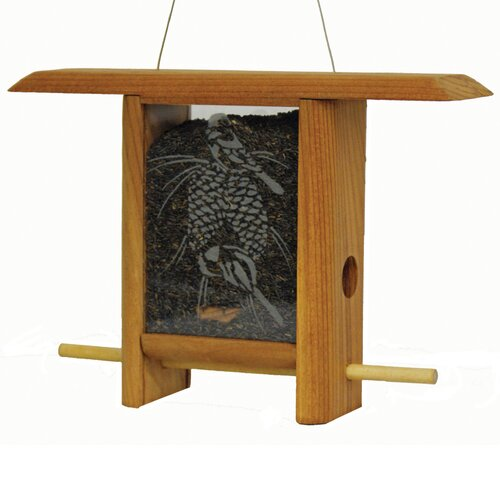 Schrodt Chickadee Pine Cone Teahouse Hopper Bird Feeder