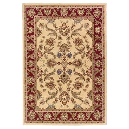 LR Resources Adana Cream/Red Persian Rug