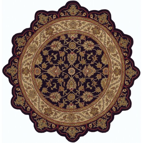 LR Resources Shapes Black/Ivory Persian Rug