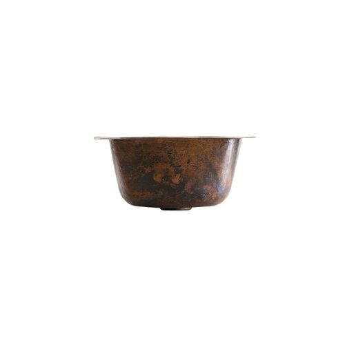 Thompson Traders Picasso Square Hand Hammered Bathroom Sink