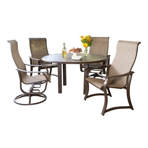 Cheap 5 Piece Dining Set: Cheap Quick Ship Villa Sling 5 Piece Dining Set