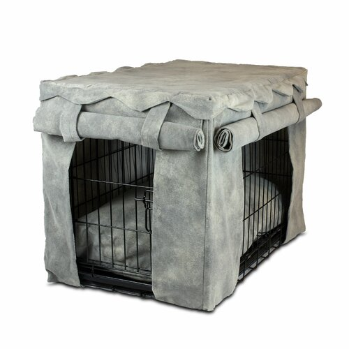 Snoozer Pet Products Cabana Pet Crate Cover with Pillow Dog Bed II