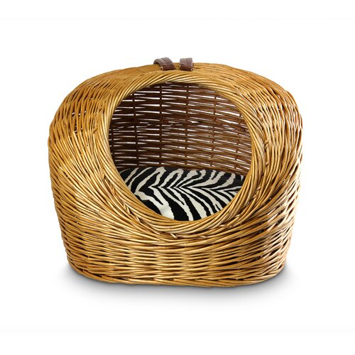 Snoozer Pet Products Luxury Wicker Zebra Micro Cat Basket and Bed
