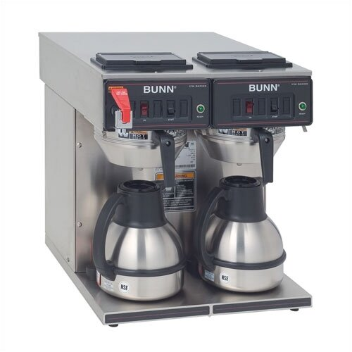 CWTF Twin TC Automatic Thermal Carafe Brewer with Hot Water Faucet